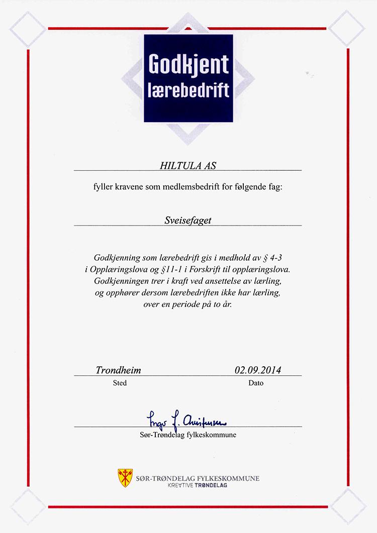 Godjennt lærebedrift_sertifikat