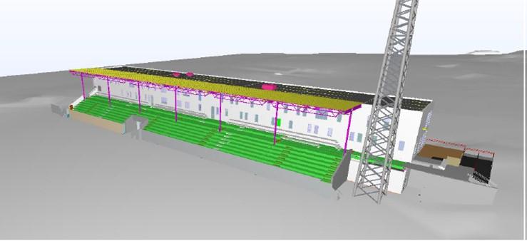 Ranheim stadion modell